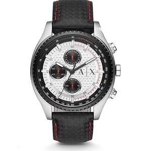 01448 Armani Exchange Men's  Black Leather Watch
